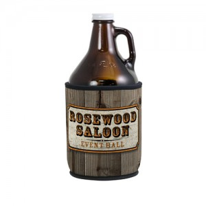 Full color growler cover makes a great impression with your logo or art n0638-4CP
